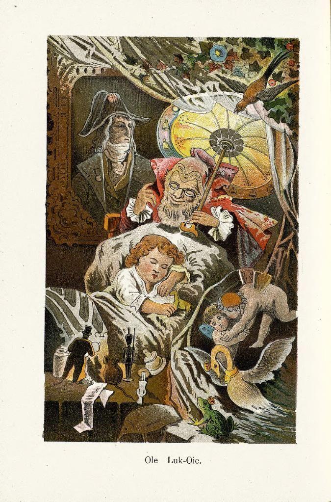 Illustration for 'Ole Lukøje' from Hans Andersen's Fairy Tales. London: Frederick Warne, 1891?