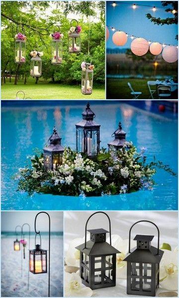 Outdoor Wedding Lantern Decor Ideas From Hottref Com