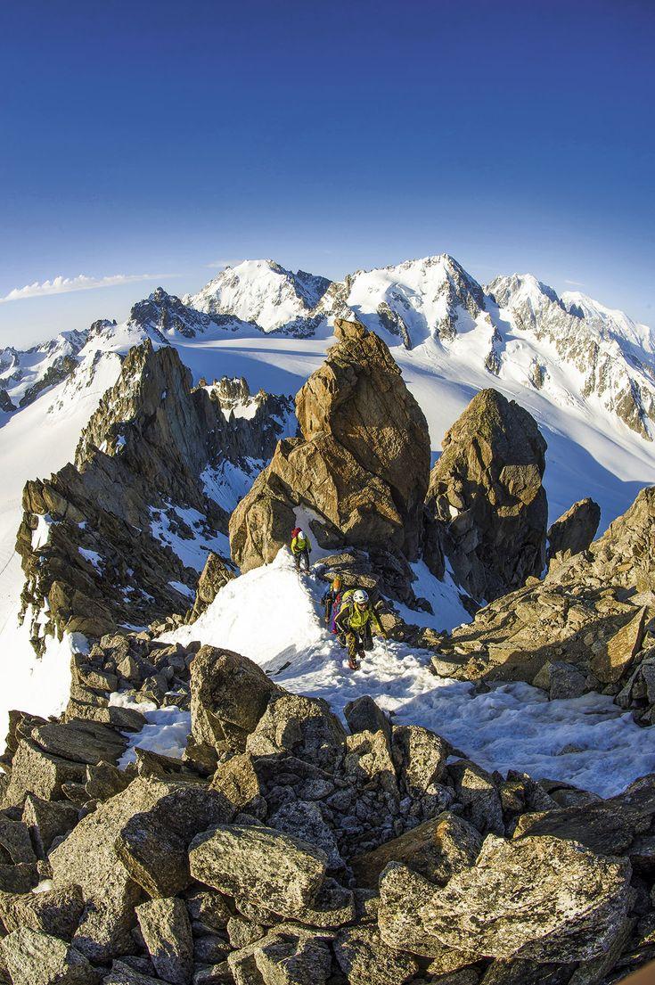 Flanc nord du mont Blanc - En route vers l'aiguille du Tour - Savoie