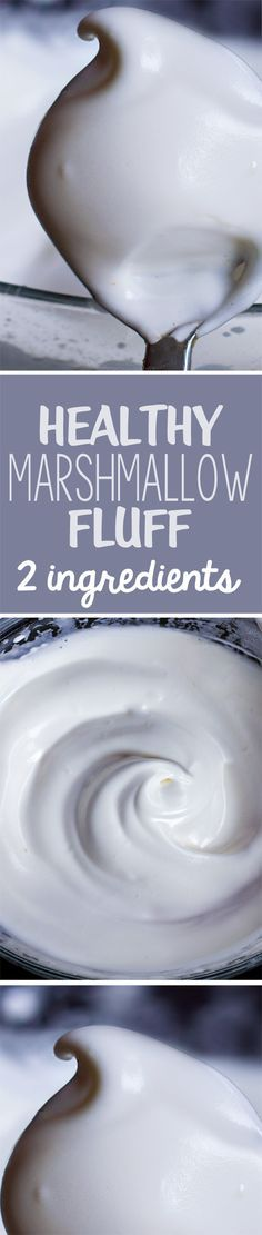 You will NEVER believe the 2 ingredients that make this healthy marshmallow fluff... it is insane that this actually works! http://chocolatecoveredkatie.com/2015/04/30/healthy-vegan-marshmallow-fluff/