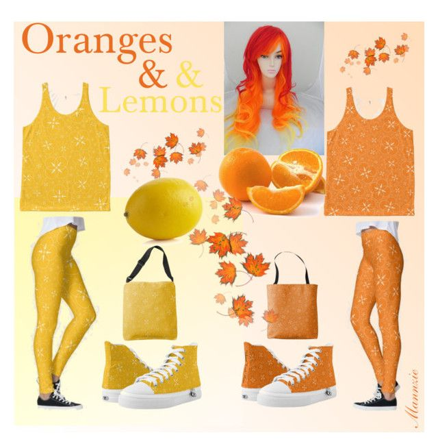 """Orange and Lemon Yellow"" by mannzie on Polyvore featuring Crate and Barrel, yellow and orange"