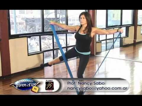 Ejercicio de Pilates Mat con bandas - Ejercicio estrella - Prof. Nancy Sabo