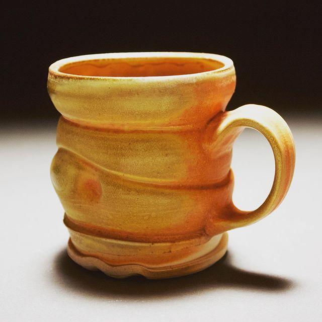 Orange Wood Fired Cup