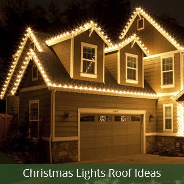 ideas for hanging Christmas lights across the roof