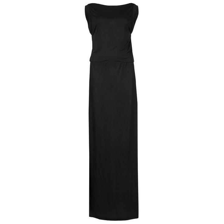 Less Base jersey maxi dress, Black
