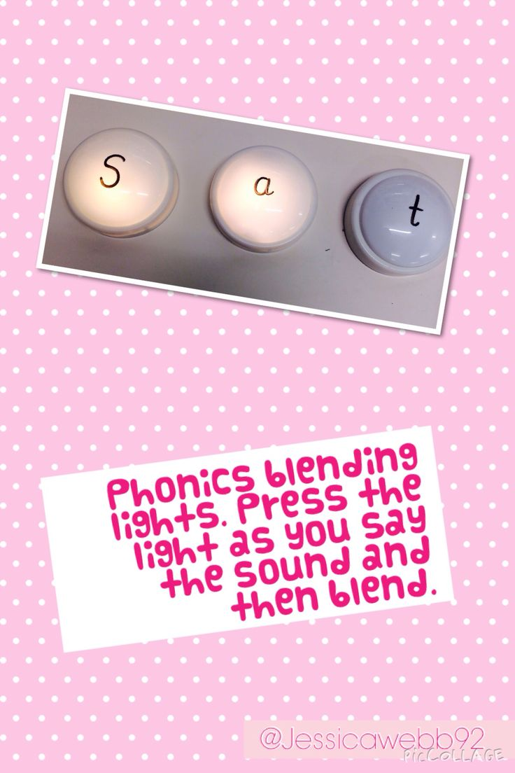 Phonics blending lights. EYFS