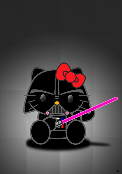 67 best ideas about hello kitty costumed up and she isn 39 t - Dark vador hello kitty ...