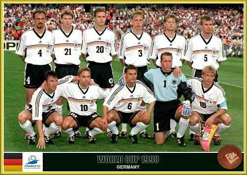 Germany team group at the 1998 World Cup Finals.