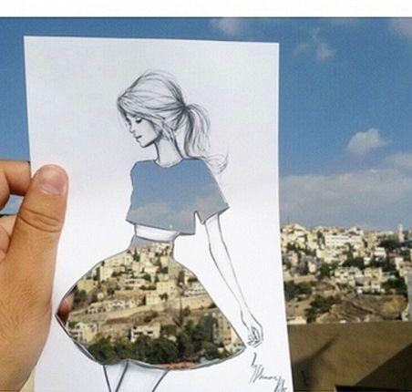 Sukienki inspirowane naturą i miejskim krajobrazem, instagram, moda, projektowanie mody