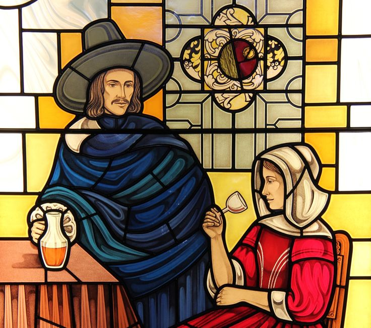 Our Vermeer inspired custom stained glass project