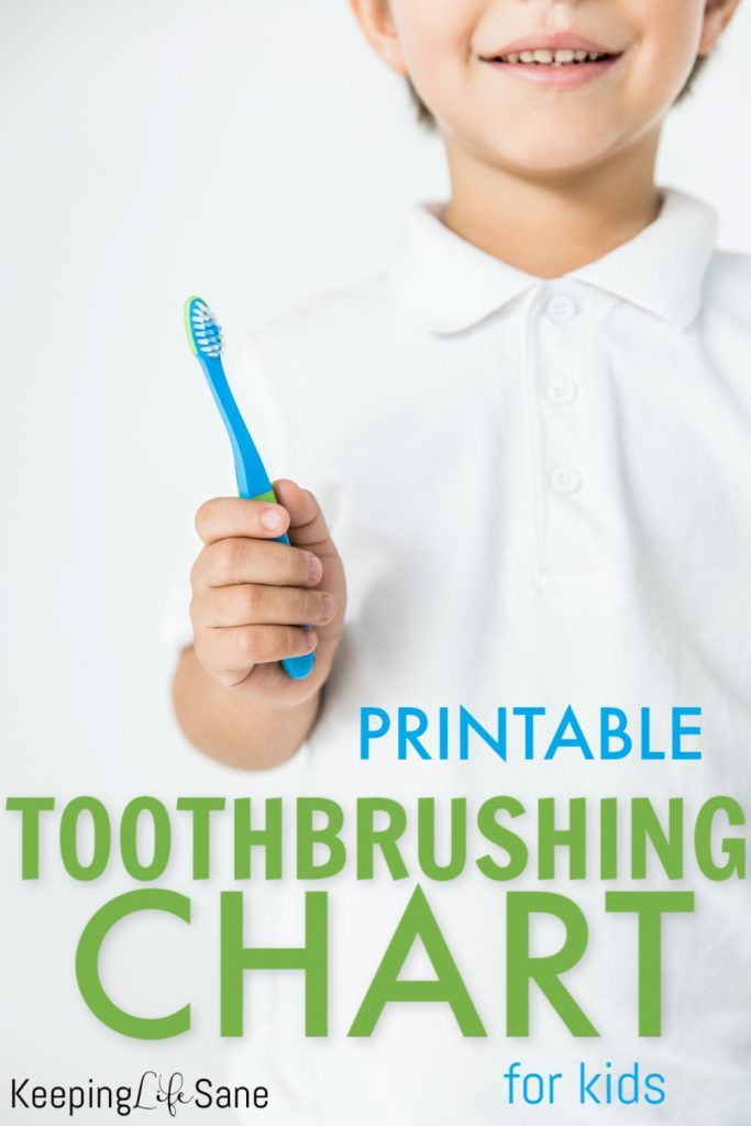 Here's a great printable toothbrushing chart to help encourage your kids to get in the habit of taking care of their tee…