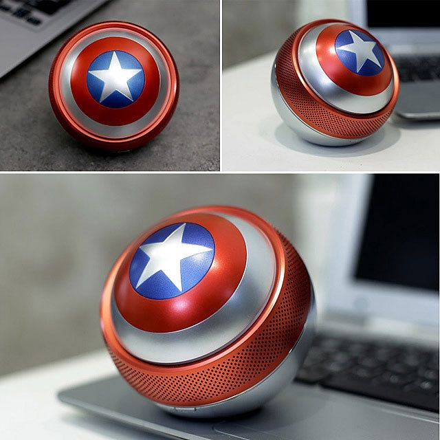 Marvel Captain America Shield Mini Bluetooth Speaker Marvel Captain America Captain America Shield Mini Bluetooth Speaker