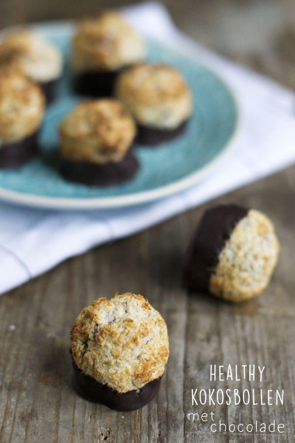 Healthy kokosbollen met chocolade Brenda Kookt