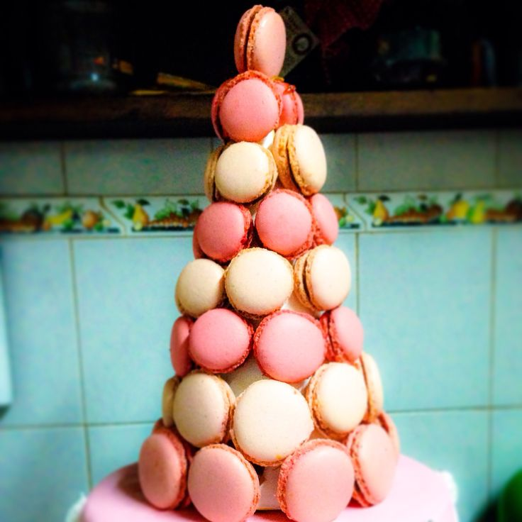 Macaron tower #pink By MelinaYasmin