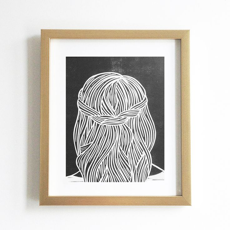 Set Forth Studio – Braids VI Linocut Print, $35 // This art print will look gorgeous on your wall, and makes a great gift. Buy it now in the shop!