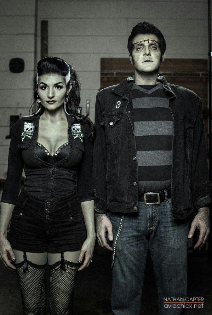 ♡♡Love this Frankenstein & his Bride whole Rockabilly look.♡♡