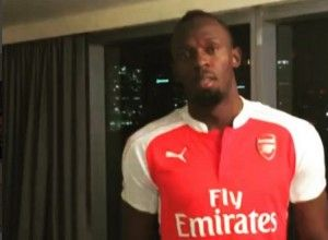 Did Usain Bolt Just Switch His Allegiance to Arsenal? (Video) | The Jamaican Blogs