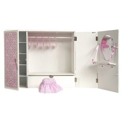 Superb Our Generation Wooden Wardrobe With Ribbons : Target Mobile. Pink  FurnitureDoll ...