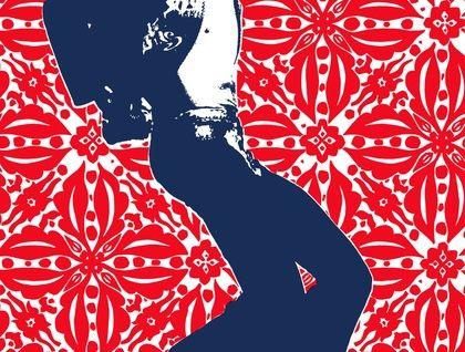 Sly Stone & Original Plum Jam Lino Cut Repeat Design
