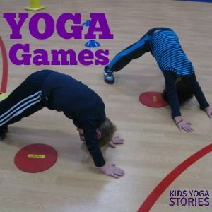 Can you imagine a large group of preschoolers all focused and engaged in yoga poses? Enjoy this list of yoga games to do with large groups of kids!