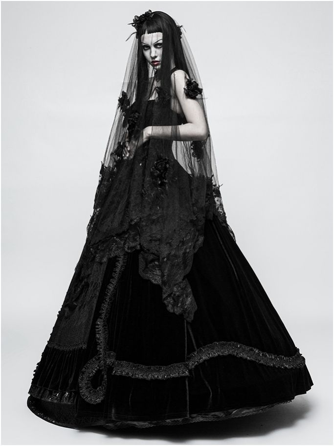 18 Non Traditional Black Gothic Wedding Dresses To Love Weddinginclude Gothic Wedding Dress Goth Wedding Dresses Black Wedding Dress Gothic