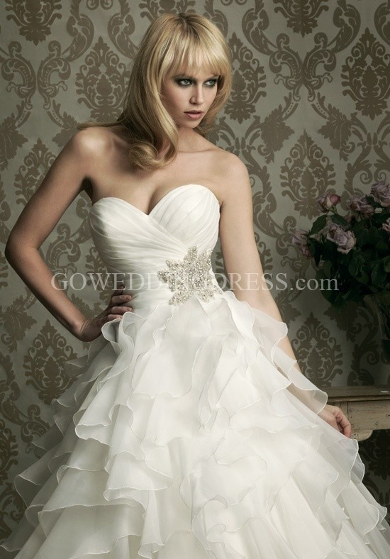 Ball Gown Strapless Sweetheart Empire Floor Length Chapel Wedding Dress 8862Wedding Dressses, Ball Gowns, Criss Crosses, Bridal Gowns, Dreams Dresses, Allure Bridal, The Dresses, Bridal Style, Ruffles