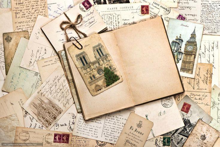 Скачать обои винтаж,  письма,  открытки,  памятники бесплатно для рабочего стола в разрешении 7000x4658 — картинка №466504