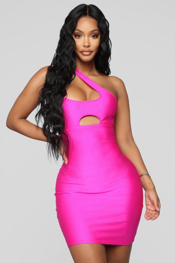 ed63346e0b5 One Hot Tamale Cutout Mini Dress - Neon Pink in 2019