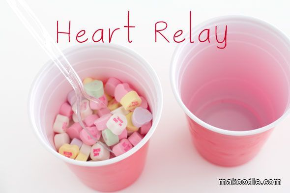necklaces tiffany Heart Relay  Valentines Minute to Win It Games for Valentines Party