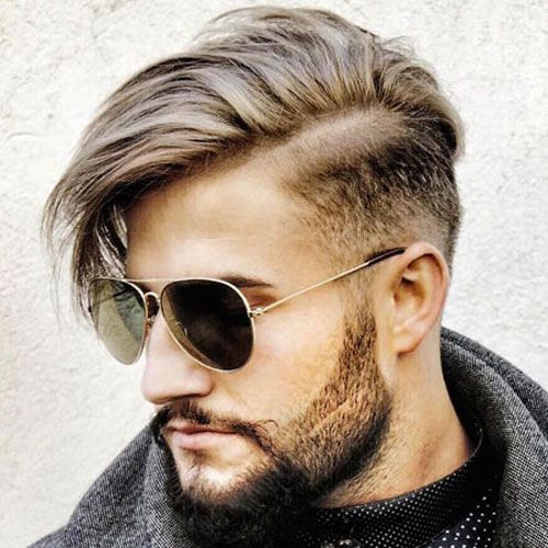 Mid Taper Fade with Long Side Parted Hair