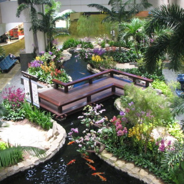 Interior Courtyard Garden Home: Indoor Courtyard
