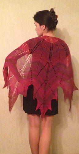 maple leaf shawl