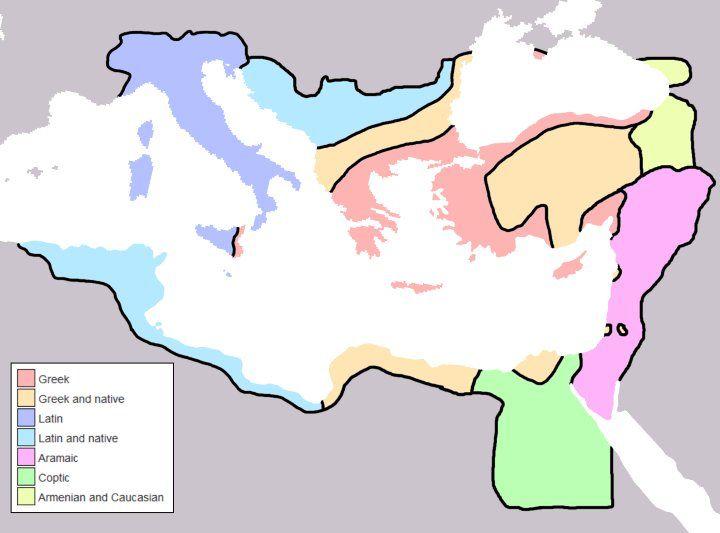 Byzantine Empire's Linguistic Divisions Under Justinian I c.560CE brilliantmaps.com/byzantine-lang…