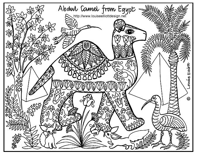 pattern animals coloring pages - photo#12