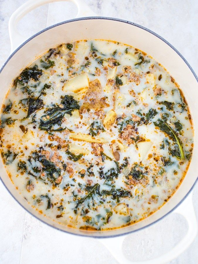 Easy Zuppa Toscana (Olive Garden Copycat Soup Recipe