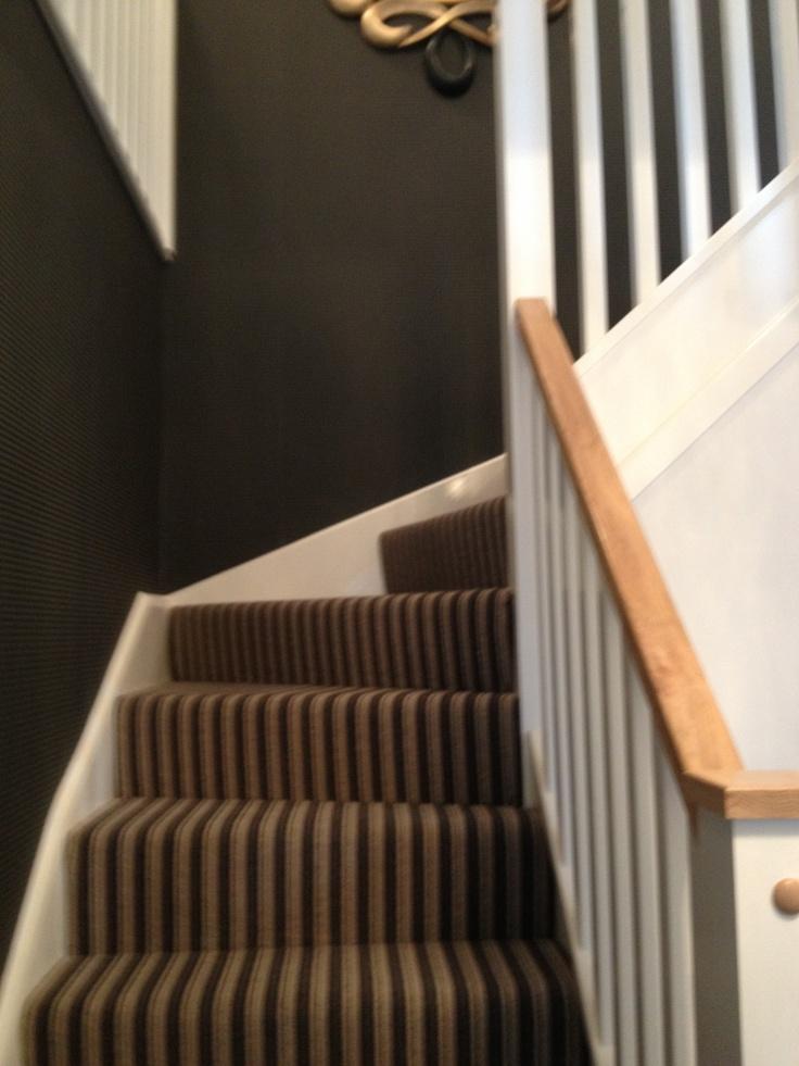 Cute stripe stair carpet