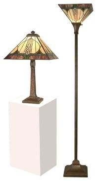 Pair Dale Tiffany Lamps Table Lamp Floor   Craftsman   Table Lamps    EuroLuxHome Houzz