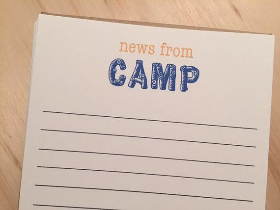 kids camp stationery news from camp by BeesKneesPaperGoods on Etsy