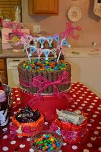 M Candy Bowl Cake. Candy cake! Sweeeeet!