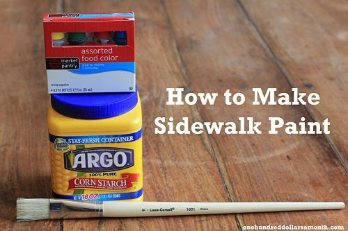 Easy Crafts For Kids: How To Make Sidewalk Paint