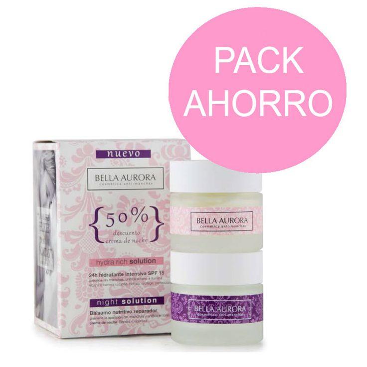 Bella Aurora Pack Hydra Rich 50ml + Night Solution 50ml
