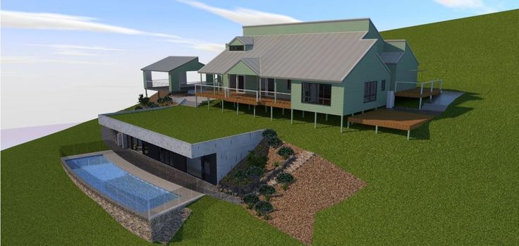 New Pool Pavilion/Granny Flat addition to a large traditional style house at Pullenvale.