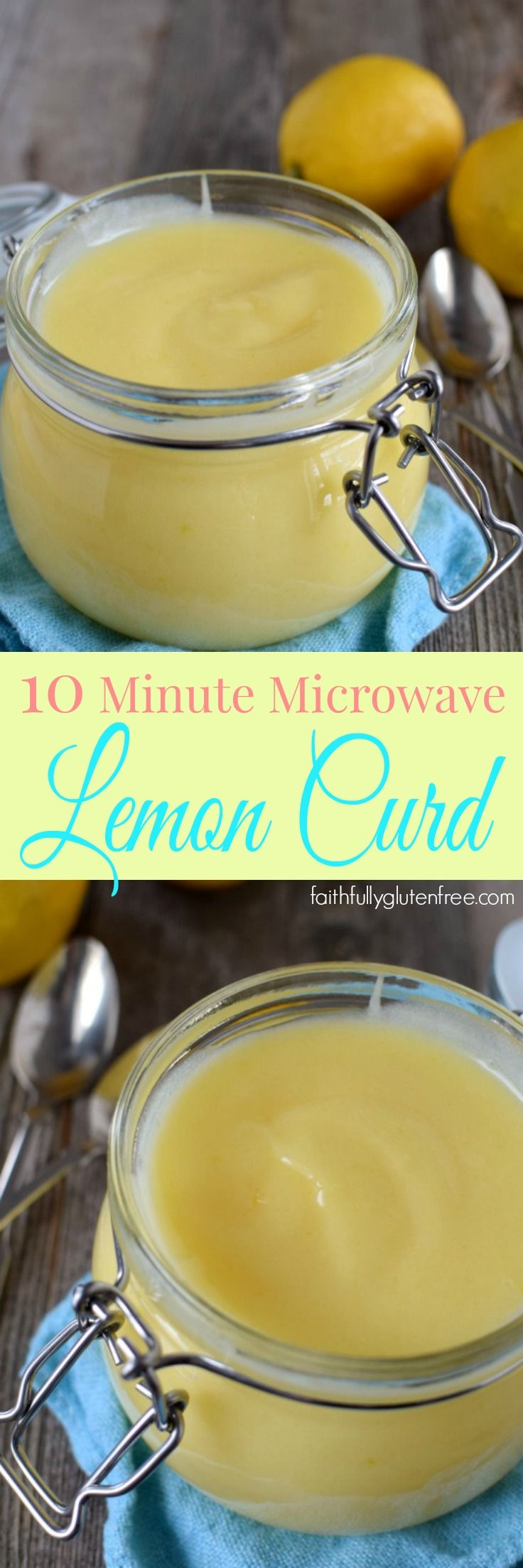 Super tart and tangy, you can make up a batch of this super Easy Microwave Lemon Curd in minutes!