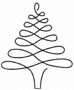 Christmas Tree Stencil 896 - Quilt in a Day / Stencils