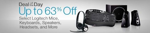 Amazon deal of the day for 5/13/2014 only! Today only, upgrade your PC or laptop with Logitech's best-selling programmable and wireless accessories, like the Performance Mouse MX, Illuminated Keyboard K800, and more. This one-day offer is valid on May 13, 2014, or while supplies last. Discount is already included in the current Amazon.com price. Applies only to purchases made from Amazon.com and does not apply to products purchased from third-party merchants on the Amazon.com website.