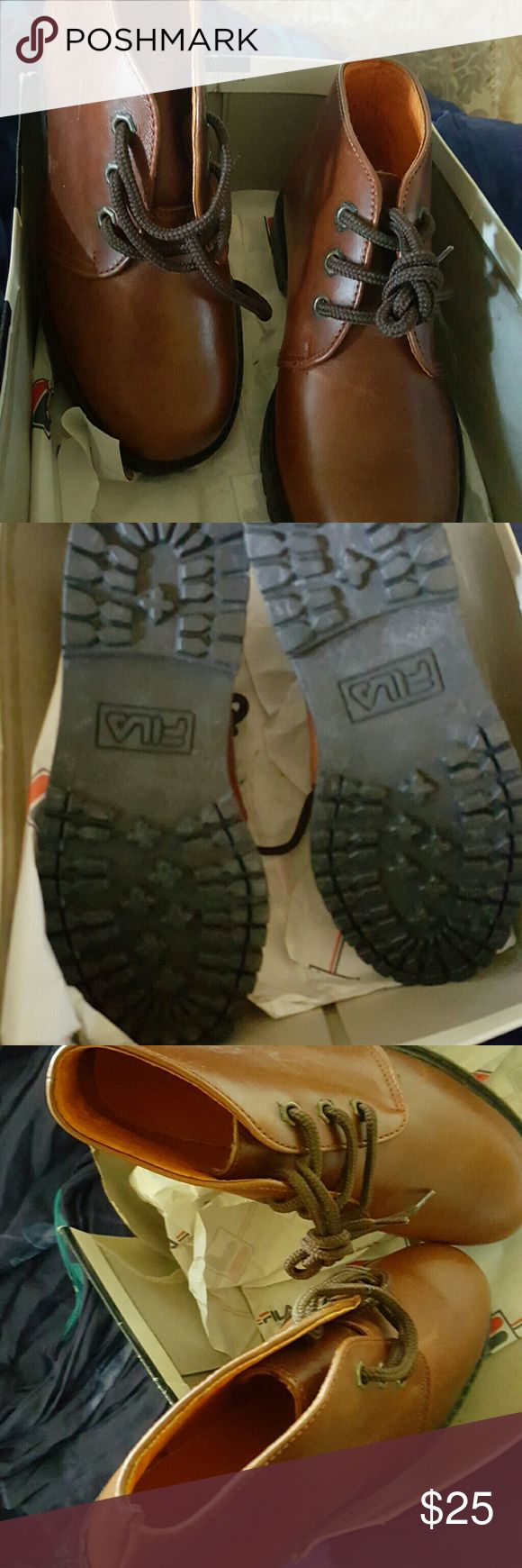 Fila Boots Fila Boots, brand new rugged boots, brand new never worn. Fila Shoes Lace Up Boots