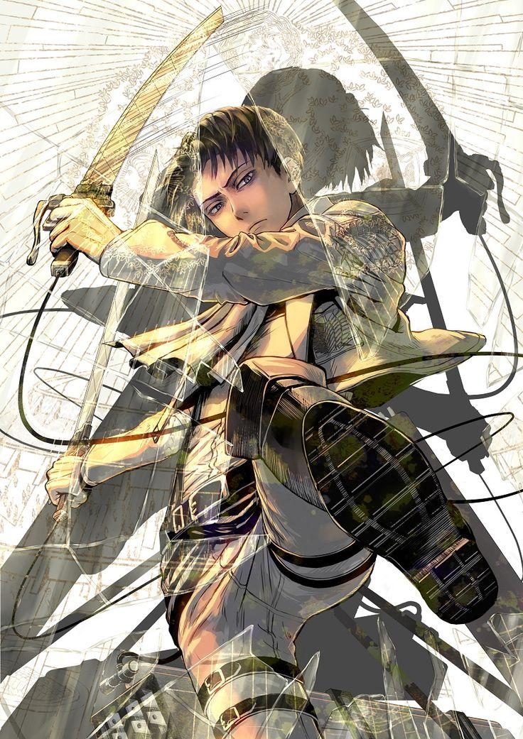 "Levi ""Rivaille"" (by からすまい [pixiv]) | Shingeki no Kyojin #anime"