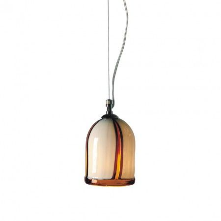 Hanging lamps with hand-made blown #Murano #glass, available with a wide range of colours; nickel metal frame.  Colors, dimensions and number of lights can be customized to fulfill your wishes. Contact us for a free quotation. Works with 60W light bulbs. Each product is shipped with 100% INSURED EXPRESS COURIER.