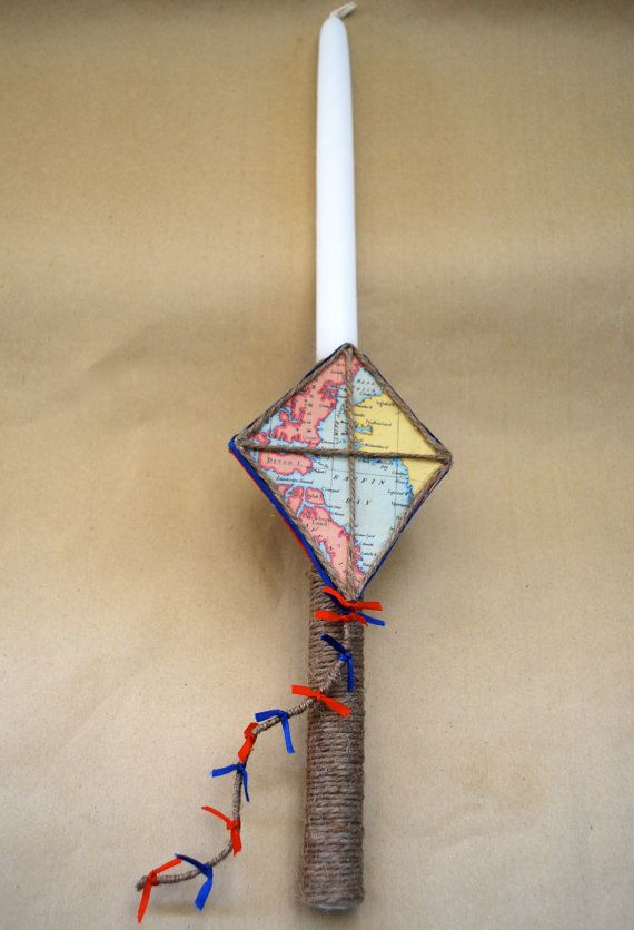 Kite Easter Candle Lampada Labada by LimaniDesigns on Etsy, $15.00