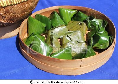 An Indonesian food is known as nogosari, a snack made from rice flour and banana wrapped with banana leaves